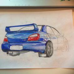 Subaru Impreza WRX STI #drawing #cars #subaru #imprezawrx #subaruimpreza #imprezasti #progress by bramvdl_