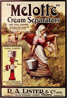 melotte cream separators 1909 by Captain Geoffrey Spaulding