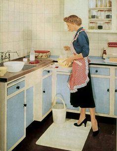 Housewife in heels.