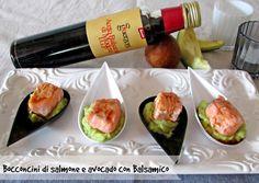 Con questi bocconcini di salmone avocado e Balsamico partecipo al Contest dell'Acetaia Guerzoni Ricetta finger food La cucina di ASI