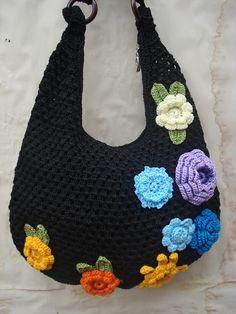 Crochet tote bag lady bag Medium fashion hand