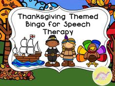 Thanksgiving Bingo for Speech and Language