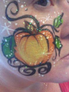 Face Painting pumpkin paintslingers.biz