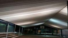 Cobertura Construida com iluminação dando total requinte ao ambiente.