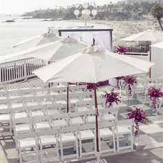 Outdoor Beach Ceremony Decor // Steph Grant Photography // http://www.theknot.com/weddings/album/a-romantic-outdoor-wedding-in-laguna-beach-ca-139871