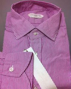 Guglielminotti Milano luxury urban chic shirt,17/43 slim~ L/52/42US fit  NWT$420 #Guglielminotti
