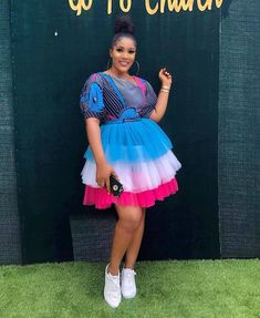 Ankara styles 2020 are one of the most gorgeous African dresses. Get latest Ankara styles and attire trending now which you can even use for Asoebi. Short African Dresses, Ankara Short Gown Styles, Ankara Gowns, Short Gowns, Latest African Fashion Dresses, African Print Fashion, Ankara Fashion, African Lace, Ankara Blouse