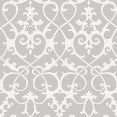 NU1699 - Ironwork Grey Peel and Stick Wallpaper - by NuWallpaper