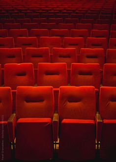 Red Theatre Seats by PavelGr - Pavel Gramatikov   Stocksy United