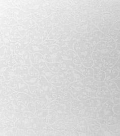 Keepsake Calico Cotton Fabric- White Vine With Birds