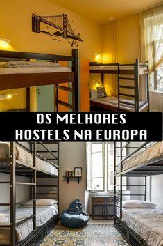 Quais são os melhores hostels nas principais cidades europeias? Dicas de hostel na Europa!