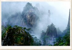 """Garden of the Gods"" ~ Sanquinshan, China: A creation by Mu-Go (Lord of the East) for the 'amusement' of his consort ""Yin""."