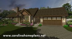 This small downsizing house plan, SG-981-AMS, provides a 2-car garage and full basement.