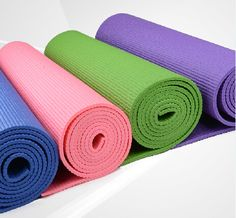 Hot PVC YOGA MAT with customized colors from yogaers.com