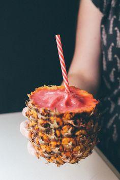 Incredible 4 ingredient watermelon raspberry pineapple smoothie