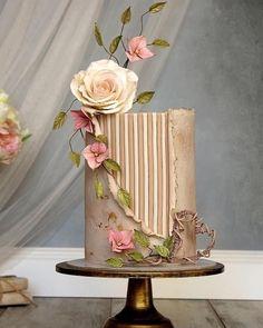 Elegant Birthday Cakes, Beautiful Birthday Cakes, Beautiful Wedding Cakes, Gorgeous Cakes, Pretty Cakes, Cute Cakes, Modern Cakes, Unique Cakes, Elegant Cakes