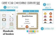 FREE Online Certificate Maker   Instant Download   Many Designs Free Certificate Maker, Certificate Design Template, Certificates Online, Award Certificates, 100 Free, Templates, Character, Stencils, Vorlage