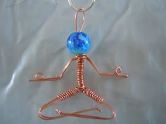 Copper and glass bead yogi pendant by FreeStyles on Etsy