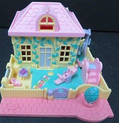 Vintage Polly Pocket Nursery School Bluebird Toys PollyVille Tiny World Dolls