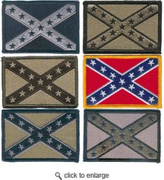 Confederate Flag Patches with Velcro - Multitan Velcro Patches, Flag Patches, Tactical Patches, Confederate Flag, Morale Patch, Survival, Kids Rugs, Iron, Sewing