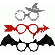 Silhouette Design Store - View Design #66489: halloween photo booth props