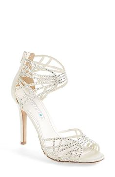 David Tutera 'Chandelier' Strappy Crystal Sandal (Women) available at #Nordstrom