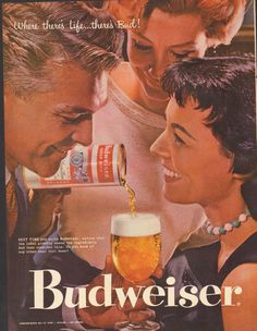 Items similar to Budweiser Beer Ad 1957 Vintage Advertisement Friends Drinking Retro Photo Print Bar / Man Cave / Bachelor Pad Mad Men Wall Art Decor on Etsy Mode Vintage, Vintage Ads, Vintage Posters, Graphics Vintage, Vintage Food, Vintage Stuff, Vintage Signs, Pin Up, Glamour Hollywoodien
