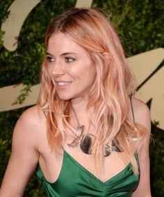 Sienna Miller's Rose-Gold Hair Is Fairy-Fabulous ... I think maybe more pastel pink or perfect peach!