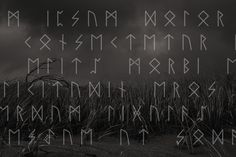 Fonts and typefaces inspired by Nordic rune symbols add depth and strength to a design. Nordic Runes, Rune Symbols, Strength, Fonts, Ads, Inspired, Poster, Inspiration, Design
