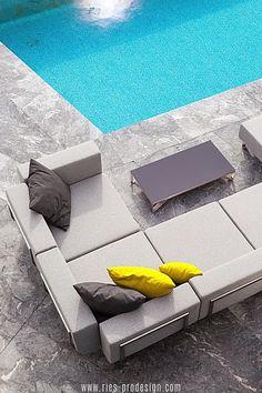 Die Modularität macht die Gartenmöbel Garnitur LOTOS besonders attraktiv und unterstützt die optimale Nutzung des Außen Raums.    Du erreichst uns unter dieser Nummer:     43 699 1599 0977    #gartenmoebel, #polstermoebelgarten, #RiesProDesign Outdoor Sofa, Outdoor Furniture, Outdoor Decor, Lounge Design, Modular Sofa, Sectional Sofa, Home Decor, Backyard Patio, Terrace Ideas
