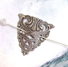 Celtic Shawl Pin Silver Celtic Scarf Pin Celtic by ShawlPinJewelry, $18.00