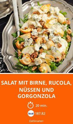 Salat mit Birne, Rucola, Nüssen und Gorgonzola - smarter - Zeit: 20 Min.   eatsmarter.de