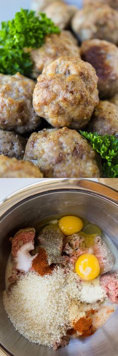 Easy Baked Meatballs from The Food Charlatan // These homemade no-chop meatballs are perfect for freezing. They are easily adaptable and much cheaper than the frozen meatballs you find at the store.