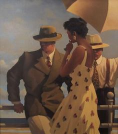 Jack Vettriano In the heat of the day oil painting for sale