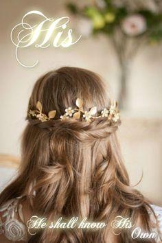 Winding Flower Halo Laurel Leaf Headpiece by AnnaMarguerite Boho Headpiece, Bridal Headpieces, Wedding Hair And Makeup, Bridal Hair, Messy Hairstyles, Wedding Hairstyles, Wedding Hair Inspiration, Flower Crown, Leaf Crown