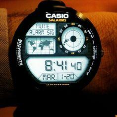 Casio 5 Alarms #moto360 #watchfaces