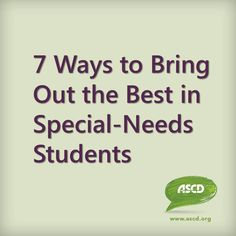 7 ways that you can activate the strengths of your students with special needs, whether you run a full-inclusion classroom, a self-contained special ed classroom, or anything in between by ASCD author Thomas Armstrong Inclusion Classroom, Special Education Classroom, Co Teaching, Teaching Strategies, Special Needs Students, Special Needs Kids, Self Contained Classroom, Inclusive Education, Differentiated Instruction