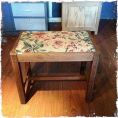 Tapestry piano stool