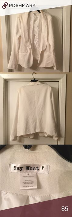 Women's Plus Size Blazer Poor condition. 3X. Makeup stains on outside and small ink stain on inside of back. Hem problems in lower back. Jackets & Coats Blazers