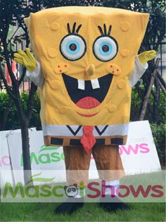 偉いスポンジボブ キャラクター着ぐるみ http://www.mascotshows.jp/product/the-greatest-cartoon-character-spongebob-mascot-costume.html