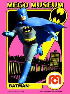 Vintage Mego Action-Figure Doll - DC Comics' Batman