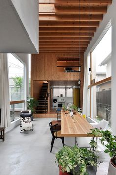 Modern Japanese Interior, Modern Japanese Architecture, Japanese Style House, Japanese Interior Design, Modern Home Interior Design, Interior Architecture, Small Japanese House, Natural Modern Interior, Japanese Homes