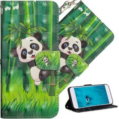 Amazon.com: HMTECH Huawei P Smart case Premium 3D Colorful Painting Wallet Case Folio Flip PU Leather with Stand Card Holder Slots Design Full-Body Protect Cover for Huawei P Smart & Enjoy 7S Climbing Panda YX: Gateway