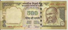 Nilaish, Esq. |  World Banknotes: 500 Rupees banknotes signed by Duvvuri Subbarao in...