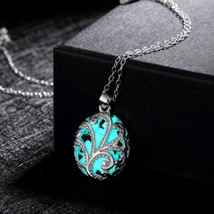 Glow In The Dark Fairy Round Sterling Silver Necklace
