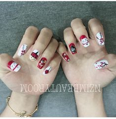 Trendy hair 2019 new ideas New Year's Nails, Love Nails, Pretty Nails, New Years Nail Art, New Year Art, Chinese New Year Decorations, Finger, Pastel Nails, Nail Tutorials