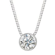 floating diamond solitaire necklace - Yahoo Search Results