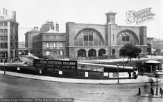 Kings Cross Station, 1886. King's Cross was built in 1851–1852 as the London hub of the Great Northern Railway and terminus of the East Coast main line. It took its name from the King's Cross area of London, which was named after a monument to King George IV that was demolished in 1845.[6] Construction was on the site of a fever and smallpox hospital and it replaced a temporary terminus at Maiden Lane that had opened on 7 August 1850. #London #Railway #Trains #Photography #History