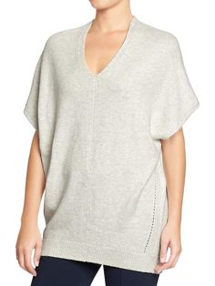 Women's V-Neck Dolman-Sleeve Sweaters in Light Gray or Blue | Old Navy - small or medium