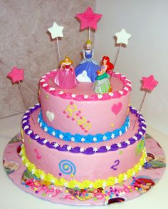 disney princess cake with stars flying out - Google Search